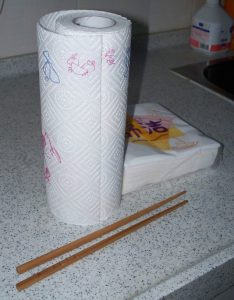 paper towels & chopsticks