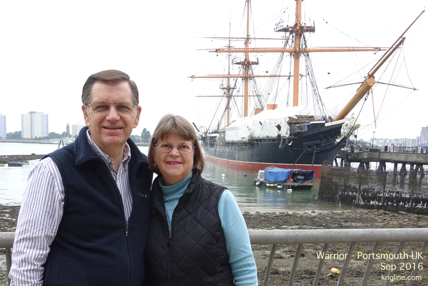 """The Warrior"" was the first ship built with an iron hull. We had a wonderful day visiting the historic Portsmouth Dockyards."
