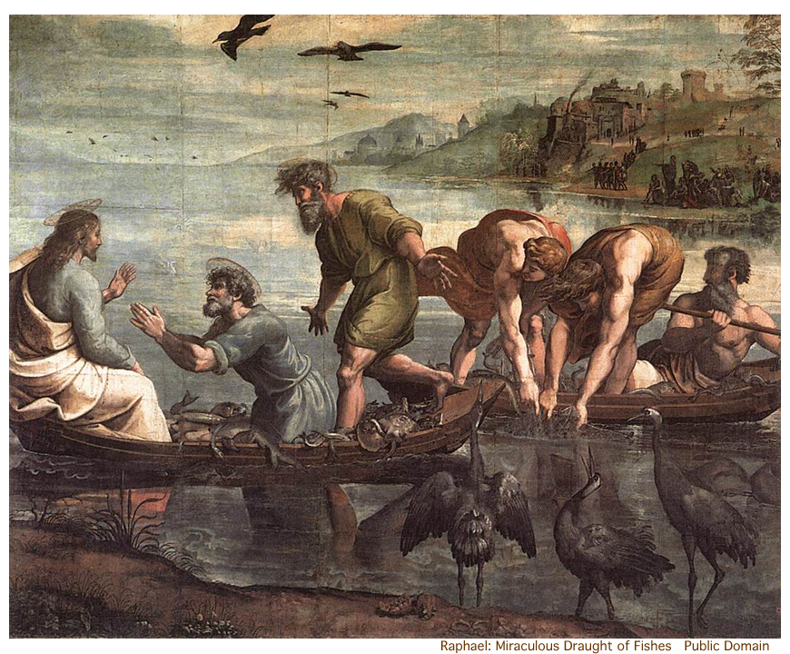 Raphael_Miraculous_Draught_of_Fishes_(1515) public domain