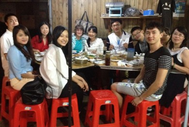 "Former students and old friends joined us for dinner at a favorite Xiamen restaurant. It is nice being ""missed"" by so many!"